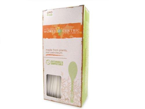 UPC 894410001944, World Centric Corn Starch Spoons, 24-Piece