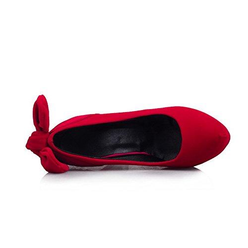 Balamasa Damene Metall Bowknot Frostet Pumper-sko Røde