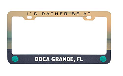 Boca Grande Florida Sea Shell Design Souvenir Metal License Plate Frame