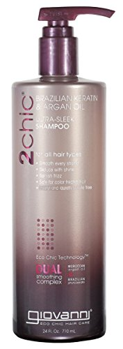 Giovanni 2Chic Brazilian Keratin and Argan Oil Ultra-Sleek Shampoo, 24 (Avocado Olive Oil)