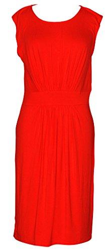 Blue Doria Dress Women's Soft Front Pleated Jersey 8PTaq1nPY
