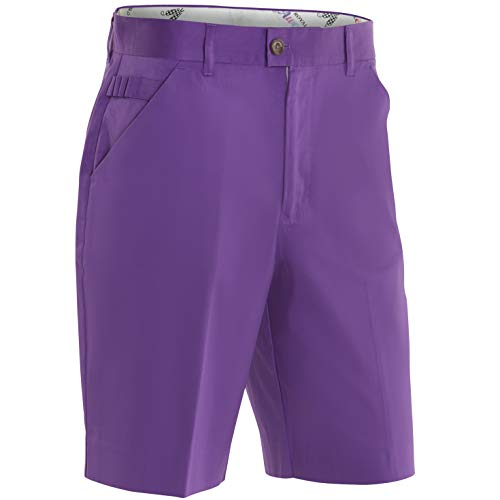 Royal & Awesome Purple Patch Bright Mens Golf Shorts - 36