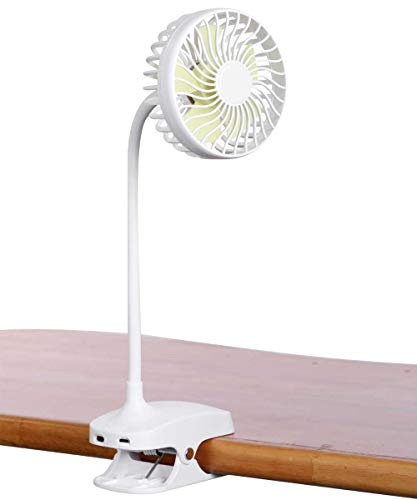 MAGICLITE Battery Operated Clip on Fan, Powered by USB or 2600mAH Rechargeable Battery, Personal Clip or Desk Fan with 4 Speeds, Multi Versatile for Car, Baby Stroller 2019 Upgrade Version
