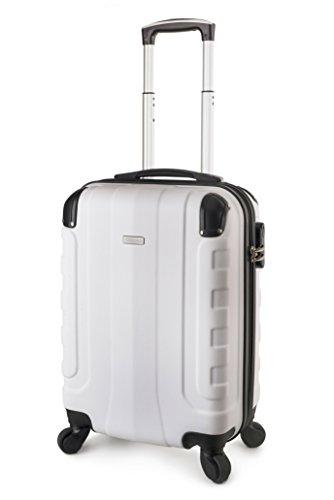 TravelCross Chicago Carry On Lightweight Hardshell Spinner Luggage - White