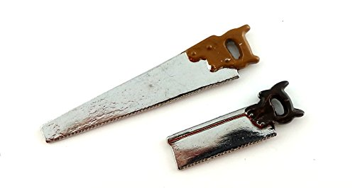 Melody Jane Dollhouse Wood Saws Garden Shed Garage Accessory Work Tools 1:12