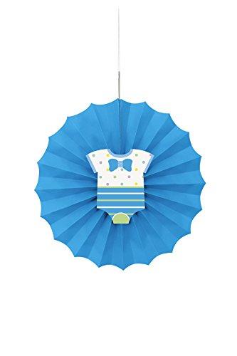 Blue Polka Shower Paper Decoration