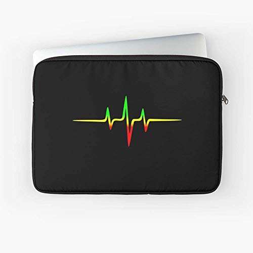 - Music Pulse Reggae Heartbeat Rastafari Laptop Sleeve - Fits Most Slim laptops.
