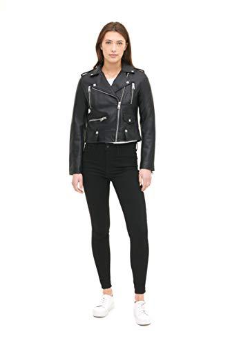 Levi's Women's Faux Leather Contemporary Asymmetrical Motorcycle Jacket, Black, Large