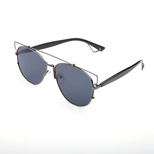 3a8a483c51c GMAT Retro Vintage Mirrored Aviator Sunglasses Metal Frame Classic Style  (Grey