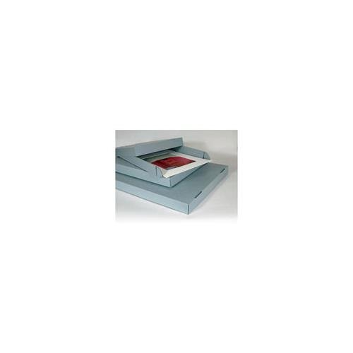 Archival Methods Corrugated Drop Side Box, 31.5x24.5x2.5, Color: Blue/Gray, Package of 3