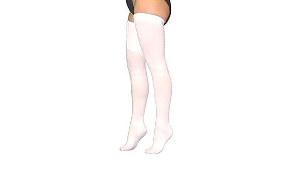 99f2ba6176c3b Amazon.com: Anti-Embolism(TED) Hose, Thigh Length Closed Toe, White, Medium  Regular, 1 Pair (White, Medium): Health & Personal Care