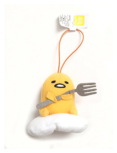 Sanrio Gudetama Lazy Egg Strap Plush Mascot ~ Gudetama with Fork ~ Cutlery Series Type A -