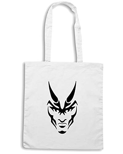 Borsa Bianca FUN1185 Shopper 59483 DEMON FACE x0U61
