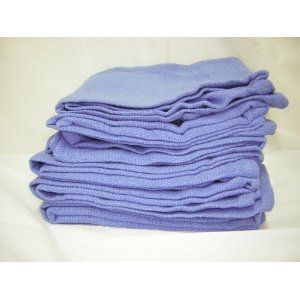 Blue Huck Towels NEW One Dozen