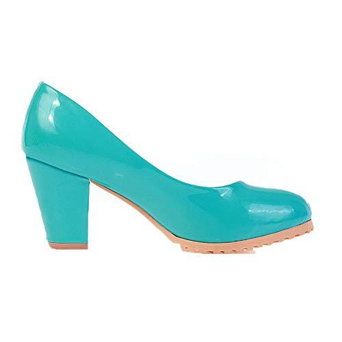 Couleur Correct Chaussures Unie Bleu Légeres Tsfdg008228 Tire Femme À Aalardom Talon 6wqTOx6a