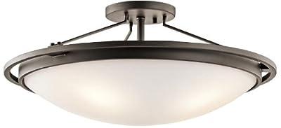 Kichler 42025OZ Semi-Flush 4-Light, Olde Bronze