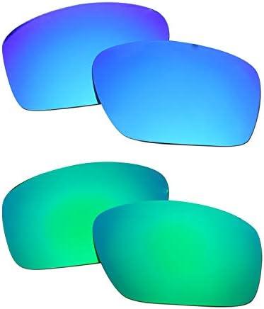 SOODASE Pour Oakley Scalpel Des lunettes de soleil Bleu/Vert 2 paires Verres de remplacement polarisés