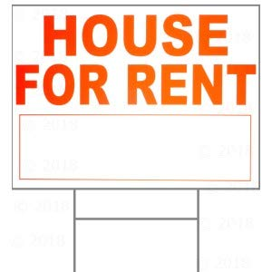 Amazon.com: 18 x 24 placa para Alquiler de casa W/H Juego ...