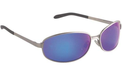 Fisherman Eyewear Blacktip Sunglass, Gunmetal Frame, Gray (Blue Mirror) Polarized Lens, Small/Medium ()