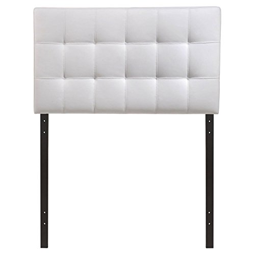 Tufted Vinyl Upholstered Bed - Modway Lily Upholstered Tufted Vinyl Headboard Full Size In White