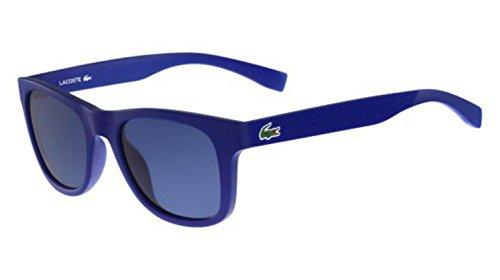 Lacoste Unisex L790S Rectangular Sunglasses, Matte Blue, 52 - Lacoste Unisex Sunglasses