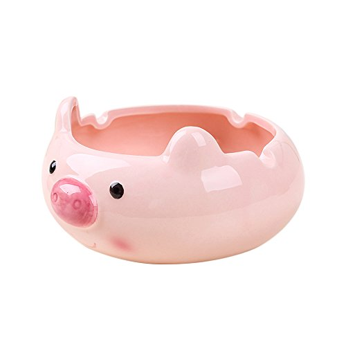 FLYING BALLOON Cute Animals Shaped Ceramics Storage Boxes Ashtray for Man
