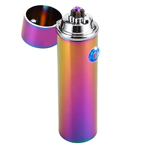 Kivors Dual Plasma Arc Lighter USB Rechargeable Windproof Electrical Plasma Beam Arc Lighter for Pipes, Bowls, Cigarettes, Cigars and Camping