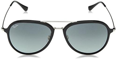 Ray-Ban Plastic Unisex Aviator Sunglasses, Black, 56 mm