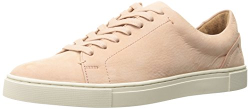FRYE Women's Ivy Low LACE Fashion Sneaker, Blush Soft Tumbled Nubuck, 7 M US