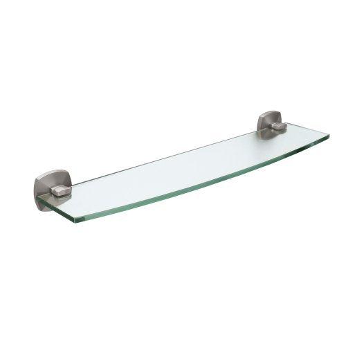 Jewel Glass Shelf- Satin Nickel by Gatco - Jewel Tempered Glass Shelf