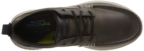 Gris Mocasines Delson charcoal Skechers elmino Charcoal Para Hombre Uq7wxnAxFT
