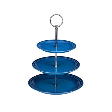 Le Creuset PG9300-0359 Stoneware 3 Tier Stand, 14.5-Inches, Marseille