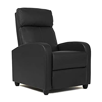 Wingback Recliner Chair Leather Single Modern Sofa Home Theater Seating for Living Room