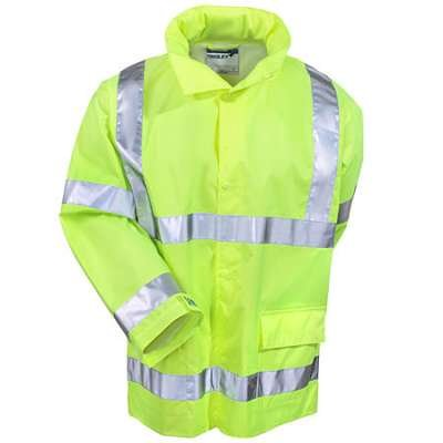 (Brite Safety Style 5200 Safety Raingear - Hi Vis Jacket, Safety Jackets for Men Waterproof With High Visibility Hoodie, ANSI 107 Class 3 Compliant(Medium))