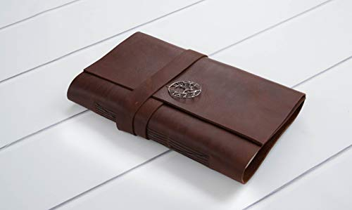 Refillable Burgundy (Burgundy Leather Handmade Bound Journal, Travel Journal, Custom Writing Notebook, Monogram Gift)