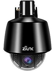 ZILNK WLAN IP Kamera, 960P Wireless Outdoor PTZ Überwachungskamera Aussen, Schwenk/Neige/5x Optischer Zoom, mit Audio und SD Kartenteckplat, IR Nachtsicht,Autofokus,Wasserdicht IP65, Bewegungswarnung