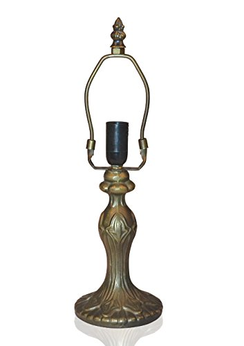 NOSHY Tiffany Lamp Base 13.5 H Height,Zinc Alloy with Antique Brass,1-E12 Socket 1 Set by NOSHY