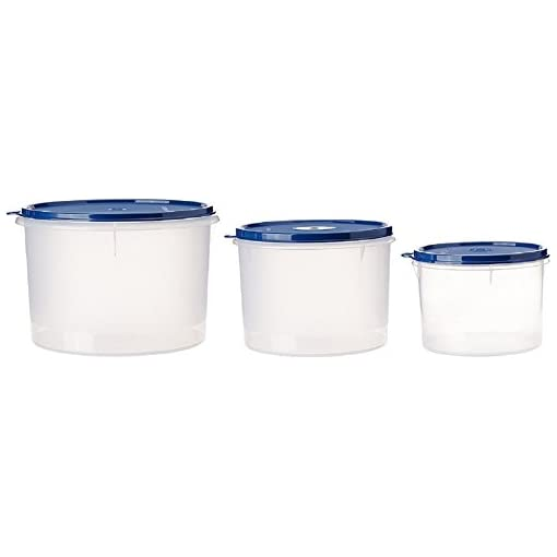 Signoraware Storage Container Set, 3-Pieces, Blue