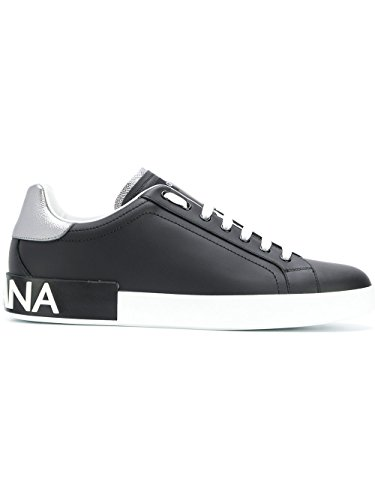 Dolce e Gabbana Men's Cs1587ah5278b979 Black Leather - Men Sneakers Gabbana For Dolce And