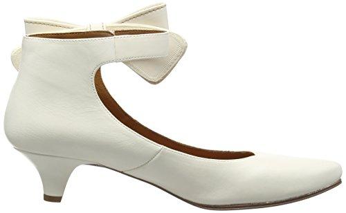 Chie Mihara bri-alice - zapatos con cierre al tobillo de cuero mujer marfil - Elfenbein (alma leche)