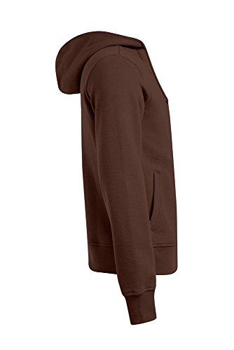 Zip Hoodie - Doppelkapuze Herren, M, Schokolade