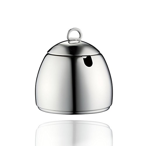 Minos Stainless Steel Sugar Bowl With Lid - 8.5 OZ - Condiment Server - Serving Coffee And Tea On Table