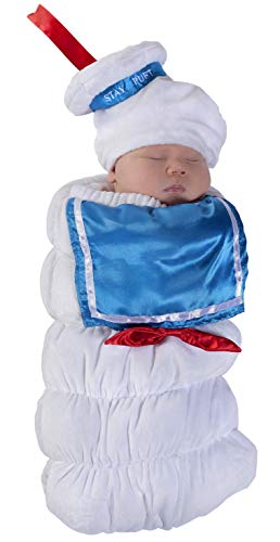 Princess Paradise Baby Ghostbusters Stay Puft Swaddle Deluxe Costume, As As Shown, 0/3M