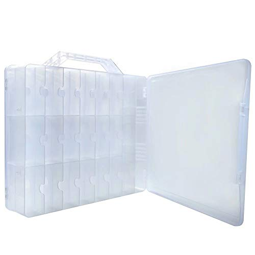Portable Clear Organizer Holder for 48 Bottles Adjustable Spaces Divider
