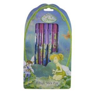 Disney Fairies 6pk Tinkerbell Pen Set - Tinkerbell - Tinkerbell Stationary