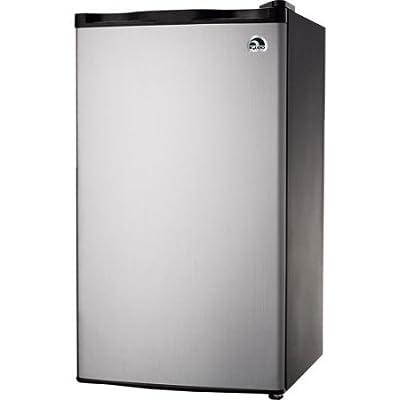 Igloo FR322, 3.2 cu. ft. Refrigerator and Freezer, Platinum Color, Compressor cooling, CFC-free, Flush back design