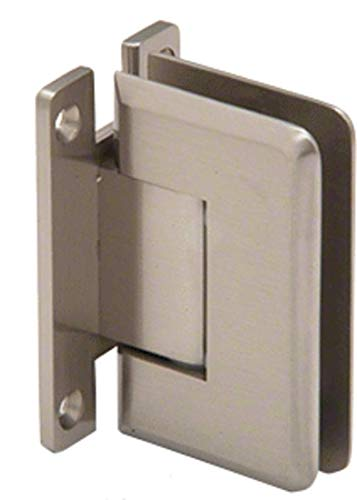 CRL Pinnacle 037 Series Brushed Nickel Wall Mount Full Back Plate Standard - Series Pinnacle Wall