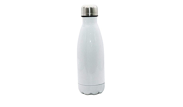 Silver Details about  /10pcs 500ml 17oz Bowling-Shaped Vacuum Bottle for Sublimation Printing