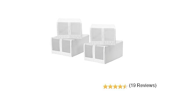 IKEA SKUBB - caja de zapatos, blanco / 4 Pack - 22x34x16 cm ...
