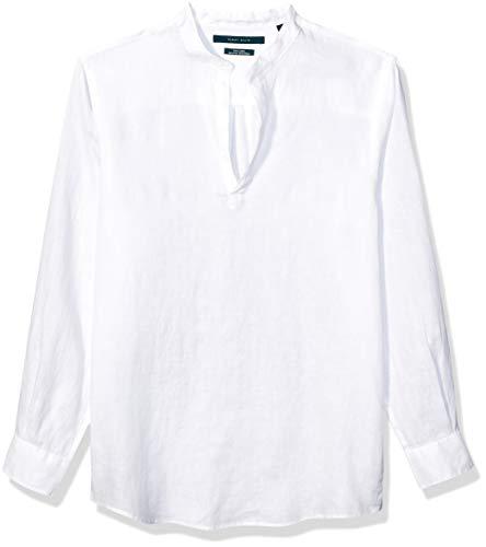 Perry Ellis Men's Long Sleeve Solid Linen